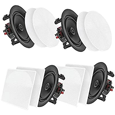 """Pyle Home(r) Pdicbt286 8"""" Bluetooth(r) Ceiling/wall Speakers, 4 Pk"""
