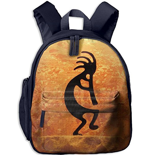 SarahKen Southwestern Style Native American Indian Ancient Belief Picture Art Orange Black Kids School Bag Navy 12.5