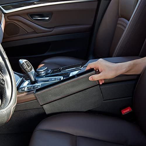 ABS Autositz Seitentaschen Organizer f/ür die Meisten Autos Huanchenda Autositz Gap Aufbewahrungsbox Organizer Tragbarer Autositz Side Gap Filler Multifunktionale Aufbewahrungsbox F/ür Auto 2 St/ücke