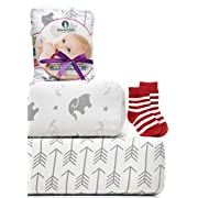 Crib Sheets - 2 Pack Fitted Crib Sheet Set - For Baby Girl & Boy as Toddler, Infant - Jersey Cotton Mattress Covers for Bed - Elephants & Arrows Unisex Bedding Style - Nice Shower Gift