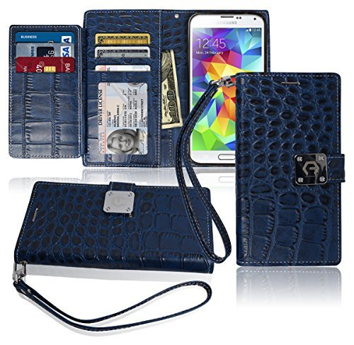 s5-wallet-case-matt-8-pockets-7-id-credit-card-1-cash-slot-power-magnetic-clip-with-wrist-strap-for-