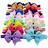 "Baby Girls Headbands 20Pcs Baby Girls Toddlers Kids Children 4"" Hair Bow Headbands"