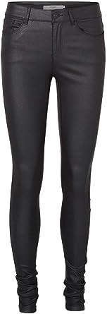 Vero Moda Womens Vmseven Nw S.Slim Smooth Coated Pants Slim