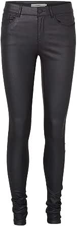 Vero Moda Vmseven NW SS Smooth Coated Pants Noos Pantalones para Mujer