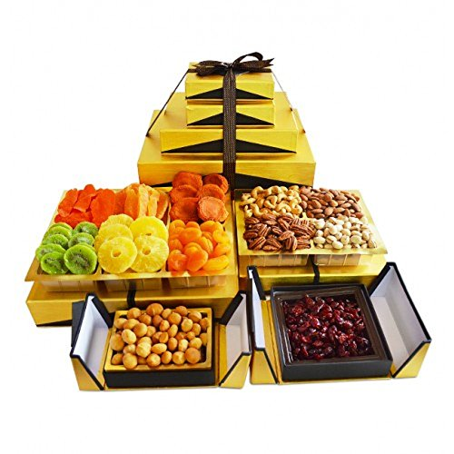 Kosherline VIP Gourmet Nuts and Dried Fruit Kosher Gift Tower