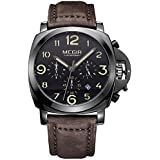 Megir Casual Watch For Men Analog Leather - 3406D
