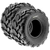 SunF A003 ATV/UTV/Lawn-Mowers Off-Road Tire 18x9.5-8, 6 PR, Directional Tread (Pair of 2)