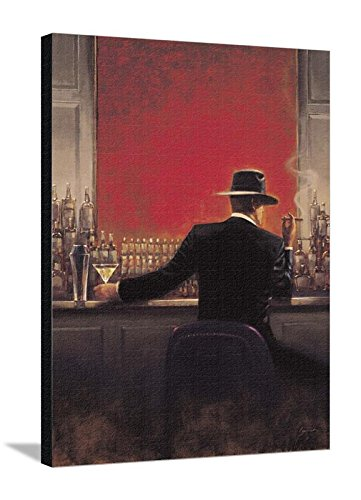Amazon.com: Canvas Print Wall Art \'Cigar Bar\' by Brent Lynch, 30x40 ...