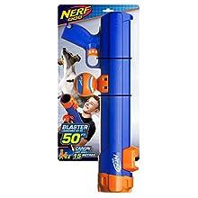 Nerf Dog 20in Blaster with Ball Clip: Blue/Orange, Dog Toy