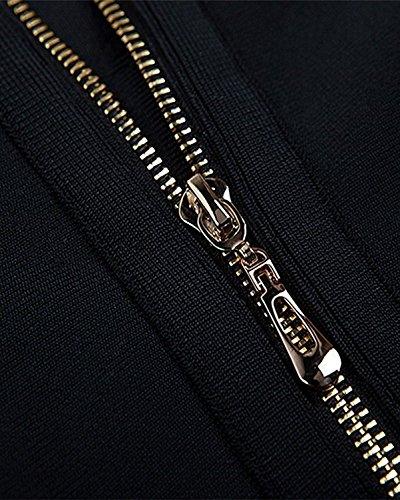 Les Femmes Maketina Sexy Deux Pièces Brassière Et Haute Robe De Célébrité Bandage Jupe Taille Noir Set