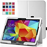 MoKo Samsung Galaxy Tab 3 10.1 and Galaxy Tab 4 10.1 Case - Slim Folding Cover Case for Samsung Galaxy Tab 3 10.1 and Tab 4 10.1 Inch Android Tablet, WHITE (With Smart Cover Auto Wake / Sleep)