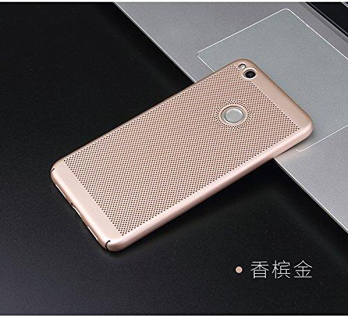Funda Huawei honor 8 Lite,Alta Calidad Ultra Slim Anti-Rasguño y Resistente Huellas Dactilares Totalmente Protectora Caso de Plástico Duro Case,Cuadrícula Disipación de calor Antideslizante Cover D