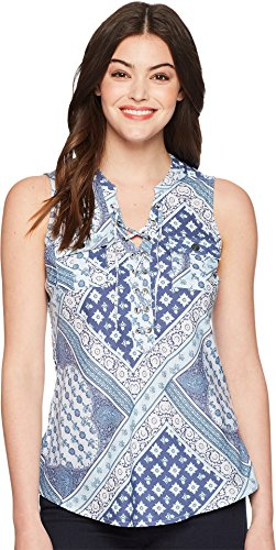 Aventura Clothing Women's Giselle Tank Top Blue Indigo ()