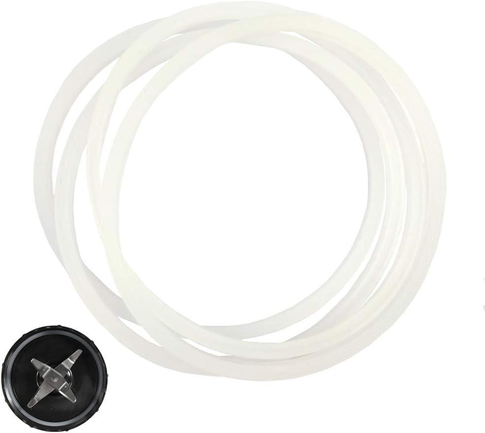 4 Pcs Rubber Gasket Sealing White O Ring Blender Gasket Replacement Parts for Ninja Juicer Blender