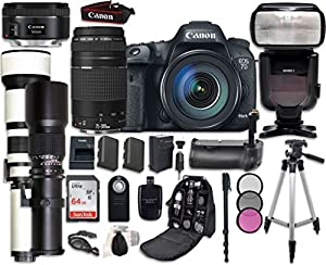 Canon EOS 7D Mark II Digital SLR Camera Bundle with Canon EF-S 18-55mm f/3.5-5.6 IS STM Lens + Professional Accessory Bundle (19 items)