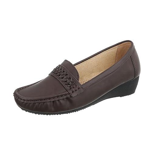 Zapatos para Mujer Mocasines Plataforma Mocasines Marrón Tamaño 39: Amazon.es: Zapatos y complementos