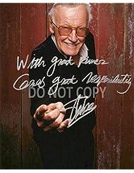 Stan Lee comic book legend reprint signed autographed photo #1 RP Marvel Spider-Man