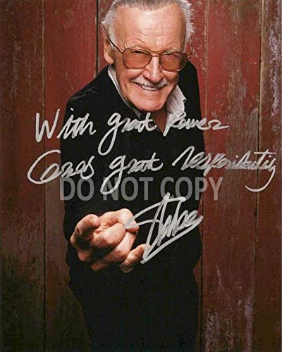 Stan Lee comic book legend reprint signed autographed photo #1 RP Marvel Spider-Man from Loa_Autographs