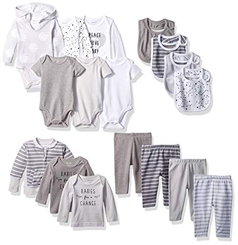 Hanes Ultimate Baby Flexy-17 Piece Cool Weather Essentials Set, Grey, 18-24 Months ()