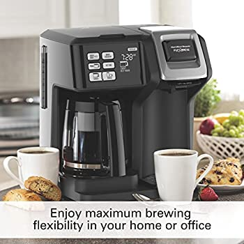 Hamilton Beach (49976) Coffee Maker, Single Serve & Full Coffee Pot, For Use With K Cups Or Ground Coffee, Programmable, Flexbrew 2