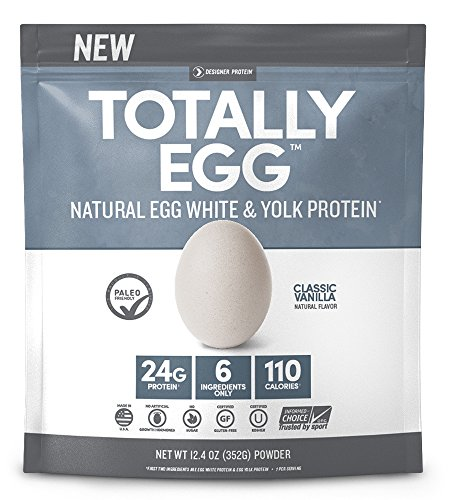 Designer Protein Totally Egg Protein Powder, Classic Vanilla, 12.4 Ounce by Designer Protein