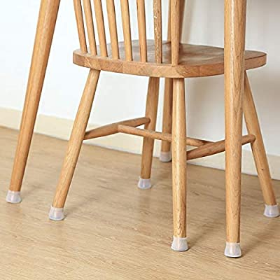 Prevents Scratches and Noise Without Leaving Marks Chair Leg Caps Silicone Floor Protector Round Furniture Table Feet Cover Anti-Slip Bottom Chair Pads 4Pcs Furniture Silicon Protection Cover