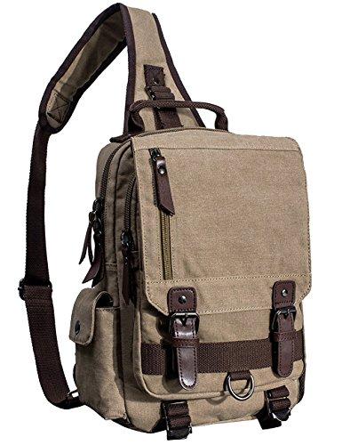 Mygreen Men's Unbalance Chest Pack Multipurpose Backpack Crossbody Shoulder Bag