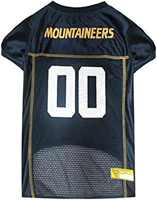 f8002829 Amazon.com : NCAA WEST VIRGINIA UNIVERSITY MOUNTAINEERS DOG Jersey ...