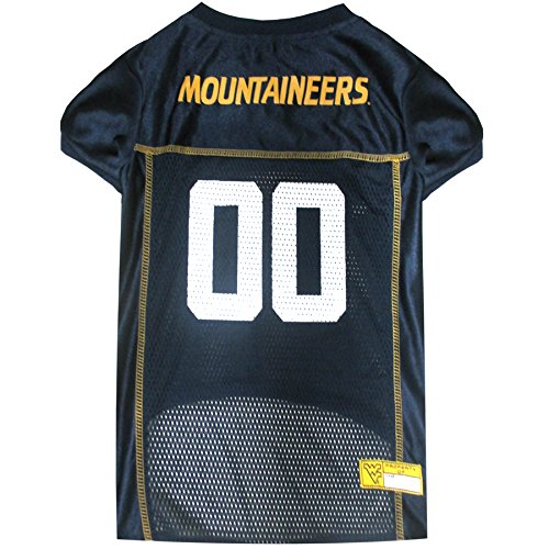 NCAA WEST VIRGINIA UNIVERSITY MOUNTAINEERS DOG Jersey, X-Small