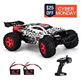 KOOWHEEL Remote Control Car, 1:12 Scale 4WD RC Cars,Fast 30MPH Electric Racing Car Off Road RC Monster Truck RTR RC Buggy LED 2.4Ghz Radio Controlled Car with 2 Rechargeable Batteries