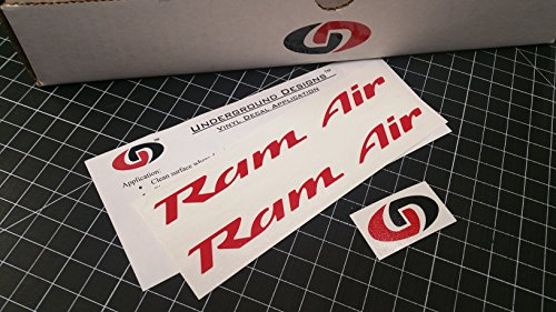 UNDERGROUND DESIGNS RAM AIR DECALS Firebird Trans Am Formula GTO Hood Stickers 1993-2002 SELECT COLOR (Gloss Red) ()