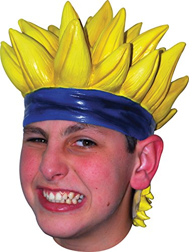 UHC Anime Naruto Cartoon Character Latex Yellow Wig Halloween Costume (Cartoon Character Halloween)