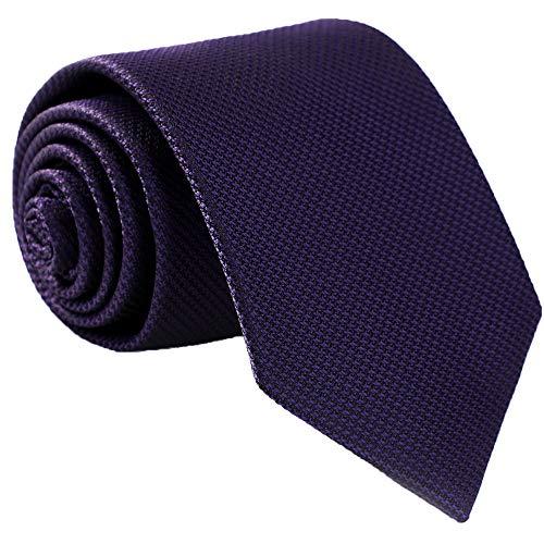 (Fortunatever Mens Solid Neckties,Plum Purple Ties For Men+Gift Box,58