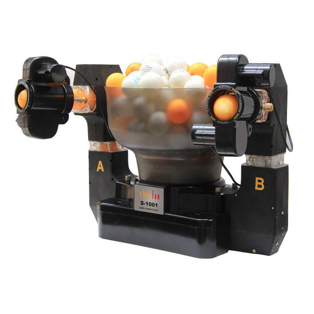 CHAOFAN S-1001 Double-end 36 Spins Ping Pong Ball Machine with Automatic Table Tennis Machine for Training by CHAOFAN