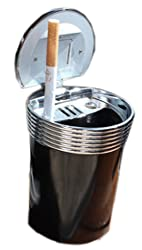 4. Panda Superstore Stainless Auto Car Ashtray