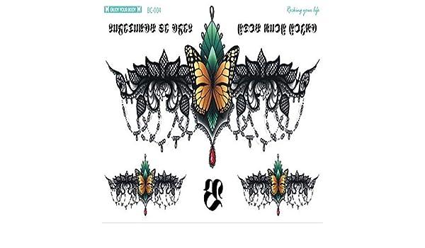 Handaxian 3pcsNew Tatuaje en el Pecho aman Gran Arco Collar Corto ...