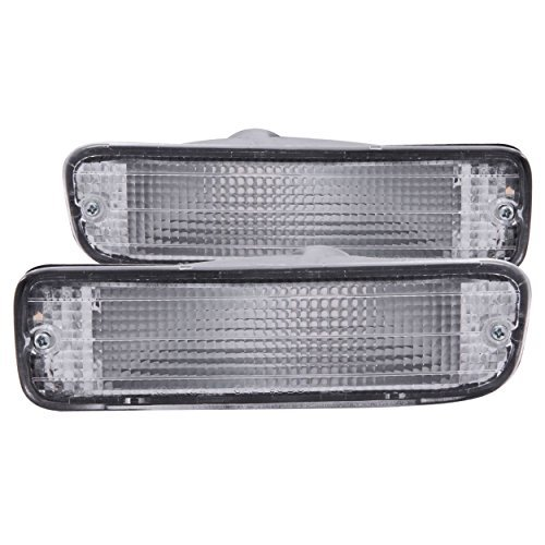 Clear Blinkers - Anzo USA 511018 Turn Signal Light Assembly Euro Clear Lens Pair Chrome