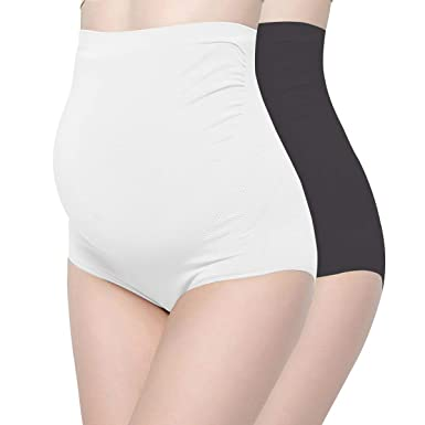fee271726f0 Surewin Women s Seamless Over Bump Maternity Underwear high Waist Pregnancy  Panties