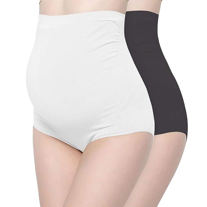 9222456d52a0 Surewin Women's Seamless Over Bump Maternity Underwear high Waist Pregnancy  Panties