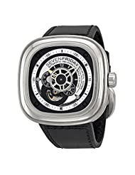 Sevenfriday Industrial Essence Silver and Black Dial Automatic Mens Watch P1-1 by SEVENFRIDAY