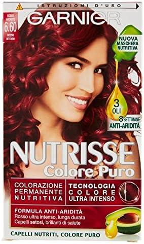 Garnier Nutrisse Color Puro Rojo Ardente 6.60 Rojo Intenso ...