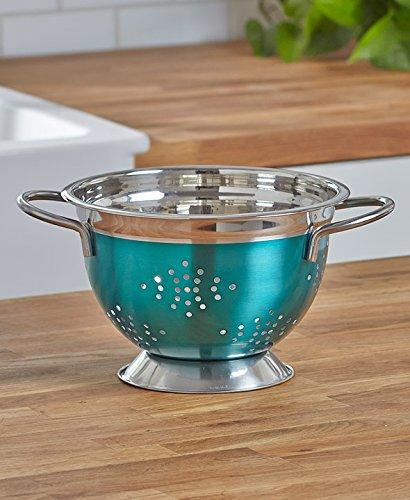 3-Qt. Colorful Turquoise Colander