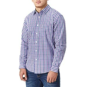 Charles Wilson Originals Long Sleeve Men's Gingham Checked Casual Shirt