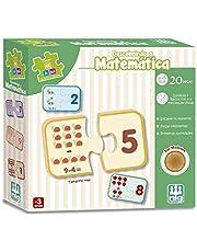 Jogo Descobrindo a Matemática, Madeira Be a Bá, Nig Brinquedos