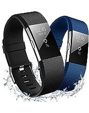 Hanlesi Fitbit Charge 2 Cinturino Sport Band Morbido Silicone Confortevole Traspirante Sostituzione Regolabile Fitness Leggero Smart Watch Wristband per Fitbit Charge2