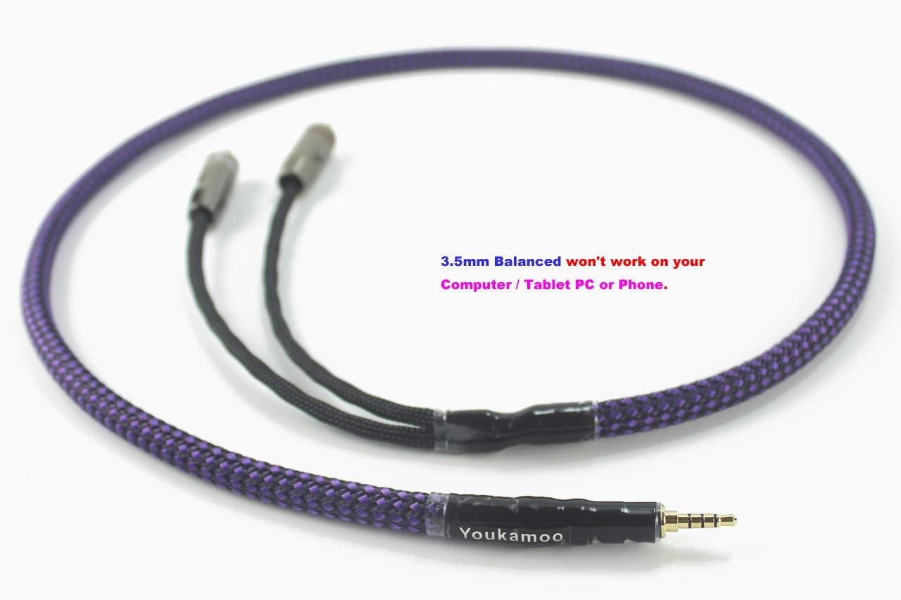 3.5mm バランス オス 3.5mm バランス RCA アダプター ケーブル オス RCA コネクター 3フィート   B07MJ7PZX5