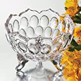 CLARICE CRYSTAL BOWL ON 3 FEET - candy dish