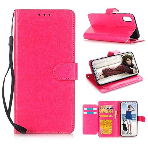iPhone Case iPhone X Case Pink,Apple Case iPhone X Cover Grils Slim iPhone X Cell Phone Case Wallet Leather Magnetic Case Stand With ID Card Holder Protective Cases for iPhone X Women Cute 5.8 Inches