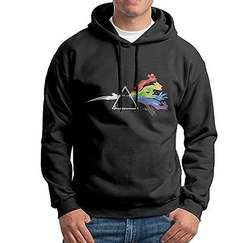 Bekey Men's Pink Floyd Eevee Evolution Pullover Hoodie Sweatshirt XXL Black (Xmen Evolution Series)