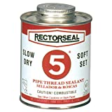 Rectorseal 25300 No. 5 Pipe Thread Sealant, 1 Quart Brush Top Can, Yellow
